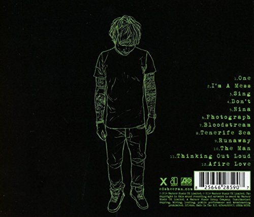 Ed Sheeran S Cd Back Of Quot X Quot Art 131 Branding Ideas