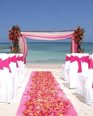 idée décoration cérémonie mariage exotique voyage