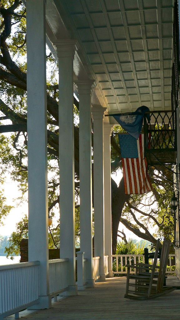 classic southern front porch, the stewart house c. 1740 georgetown, sc…