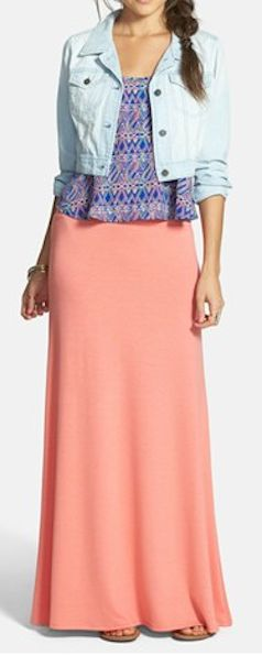 cute #coral maxi skirt  http://rstyle.me/n/gc69vpdpe