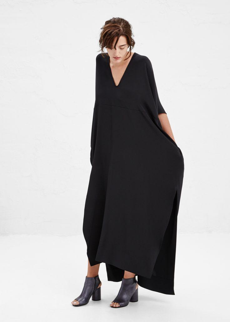 Zero + Maria Cornejo Long Elie Dress in Black