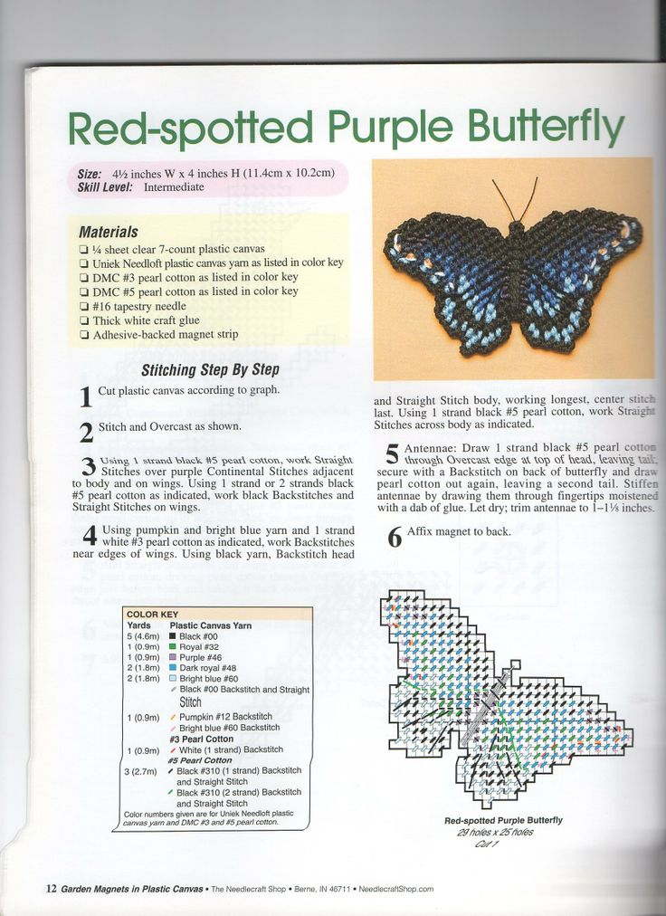 RED SPECKLED PURLE BUTTERFLY
