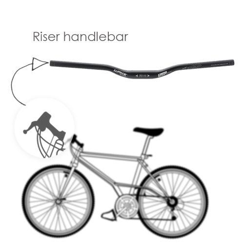 Aluminum Alloy Cycling MTB Mountain Bike Riser Handlebar 31.8 * 620mm