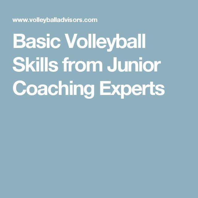 Basic Volleyball Skills from Junior Coaching Experts
