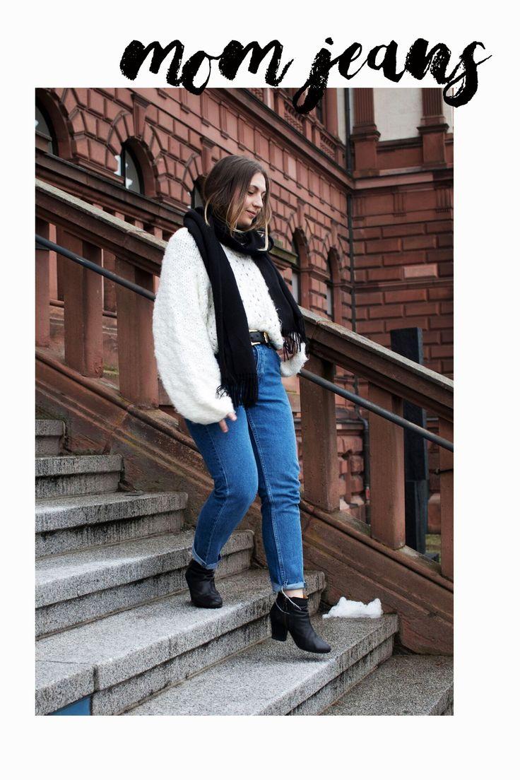High Waist Mom Jeans Denim Outfit #OOTD