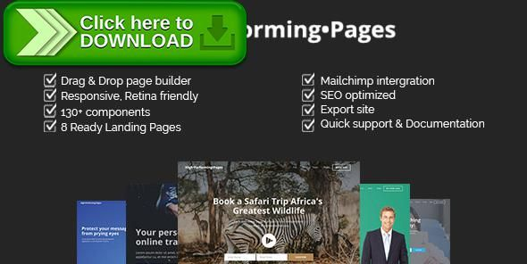 [ThemeForest]Free nulled download High Performing Pages - Landing Page Kit with Page Builder from http://zippyfile.download/f.php?id=15057 Tags: agency landing page, app landing page, bootstrap, conference landing page, css, e-learning landing page, fitness landing page, html5, javascript, landing page, marketing landing page, medical landing page, multipurpose landing page, travel landing page