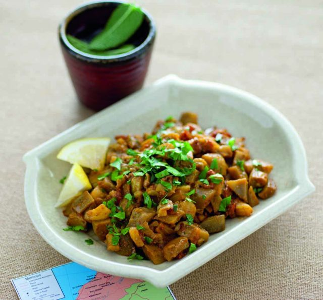 Caponata di melanzane alla marocchina http://www.cucina-naturale.it/ricette/dettaglio/caponata_di_melanzane_alla_marocchina