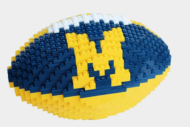 LEGO football. This takes skill...and time.  And it can be applied to any school.