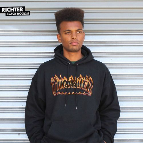 Thrasher Richter Flame Hooded Sweatshirt Hoodie Limited Skate Board Skateboarding Thrasher Skate Mag Logo Navy Outlined Crewneck Sweatshirt Crew Neck Thrasher Magazine Logo Crew Crewneck sweatshirt HOODIE sweatshirt international worldwide orders accepted Ship Low Lowest Best Price shipping welcomed flame hooded Sweat Shirt