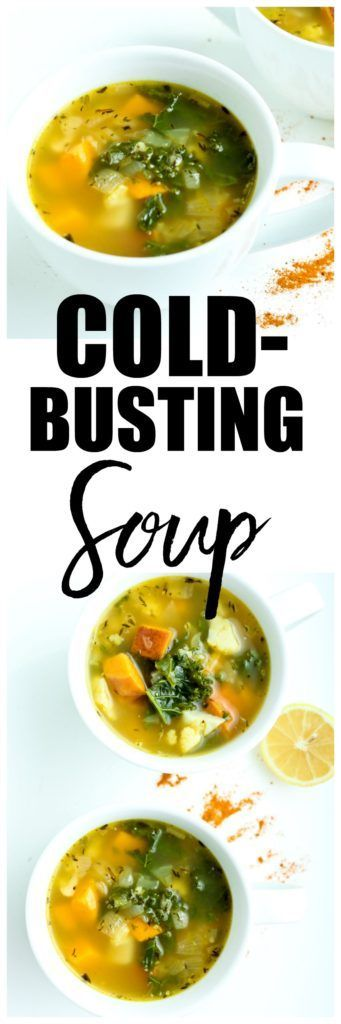 This Cold Busting Soup Recipe is the best soup to make when you have a cold! Feeling sick? Fight it with this natural cold remedy!
