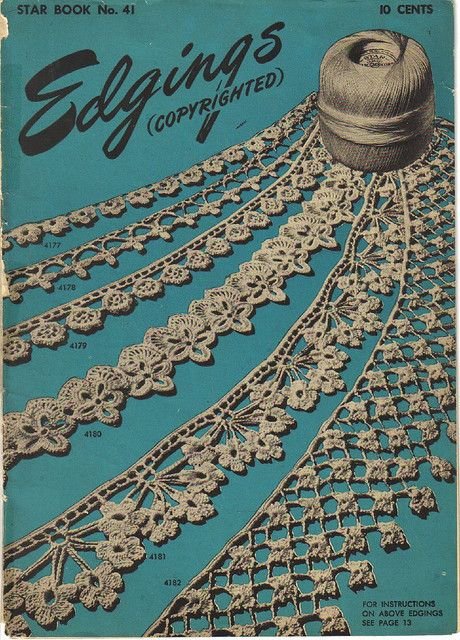 Not doilies but you can use edgings on so many different things..Vintage Edgings