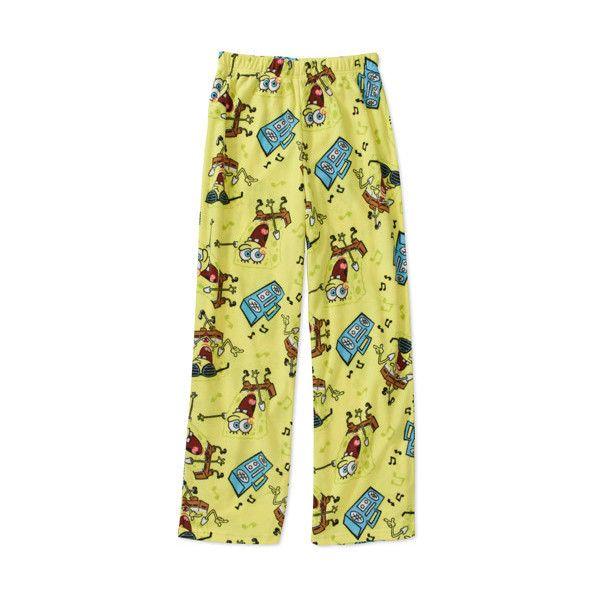 Nickelodeon Boys' Spongebob Pajama Pants ($7) ❤ liked on Polyvore
