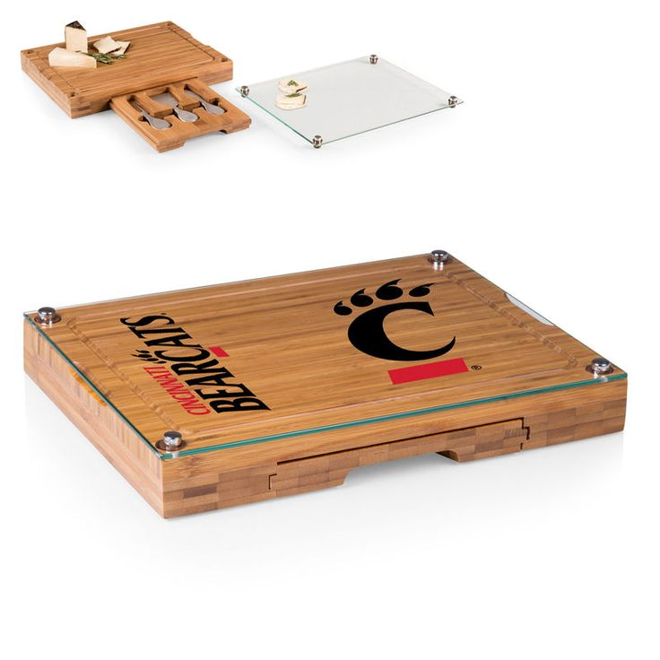 Cincinnati Bearcats Concerto Cheese Board with Serving Stage and Tools