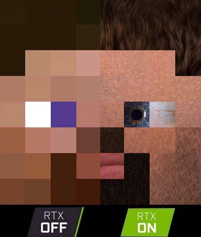 If Minecraft Has Rtx Minecraft Geforce Nvidia Lol Meme Rtx