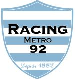 """Racing Métro 92, is a French rugby union club based in suburban Paris that was formed in 2001 with the collaboration of the Racing Club de France and US Métro. """"92"""" is the number of Hauts-de-Seine, a département of Île-de-France, bordering Paris to the west, where they play, and whose council gives financial backing to the club. They currently play in the Top 14, having been promoted as 2008–09 champions of Rugby Pro D2."""