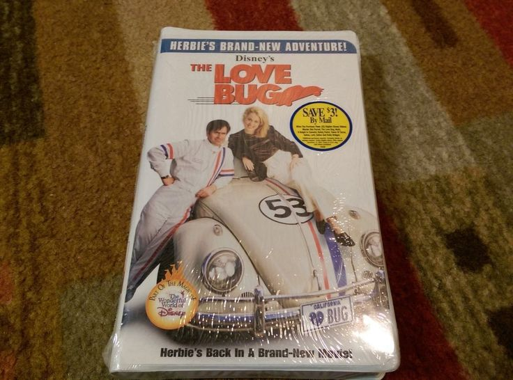 The Love Bug (VHS, 2001) Disney's Bruce Campbell Alexandra Wentworth Brand New