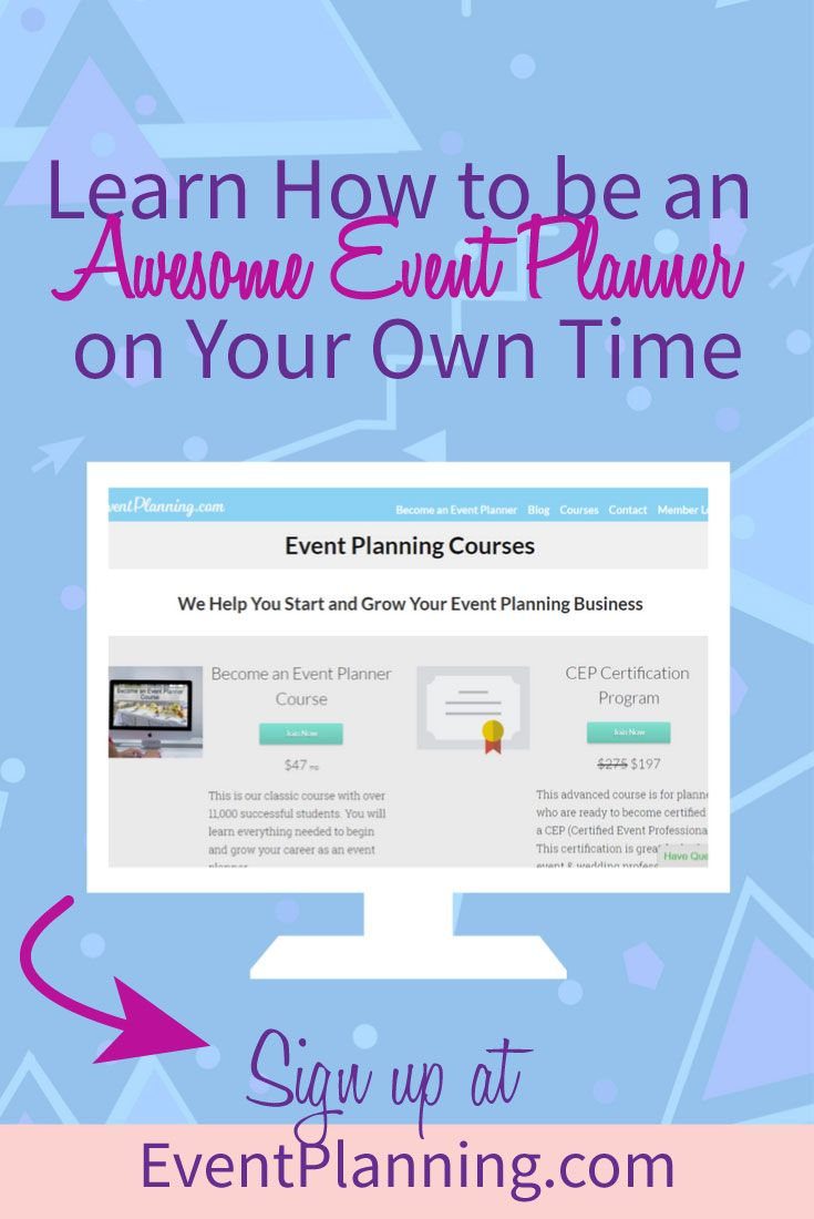 how to run your own event planning business
