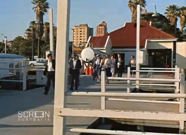 Barrack Street Jetty view of Perth, including CML building and Lawson Apartments, 1965