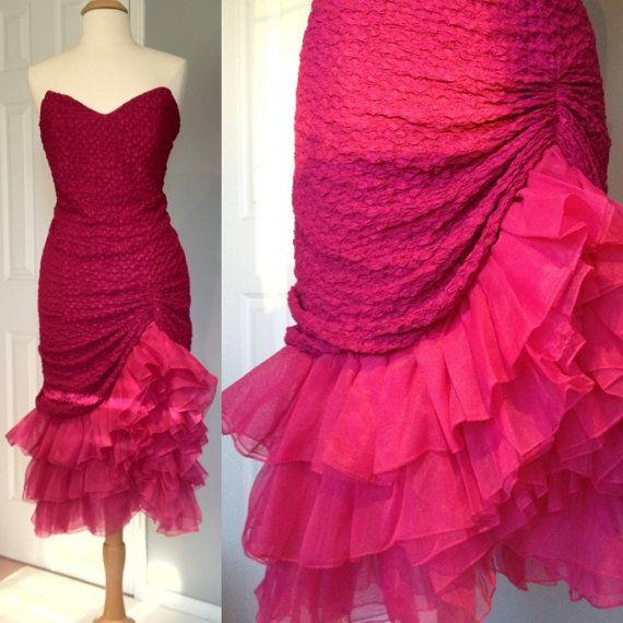 1980s Tadashi Mermaid Prom Dress by callheralaska, $79.00. Obsessing over 80s prom dresses.