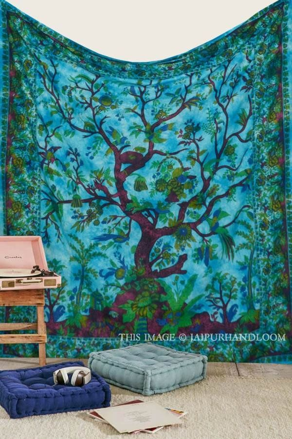 bohemian tree of life wall hanging cheap tapestries on sale