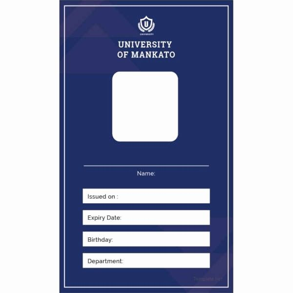 Free Printable Id Card Template Fresh 17 Id Card Templates Free Psd Documents Download Id Card Template Card Templates Free Blank Id Cards
