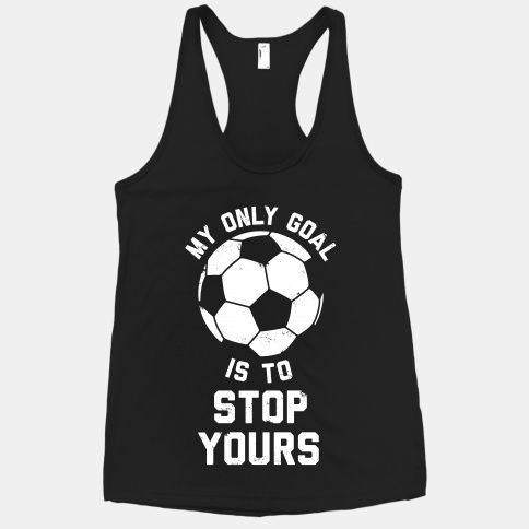 Get yourself a pick-up soccer game going with this sports-inspired fitness shirt.
