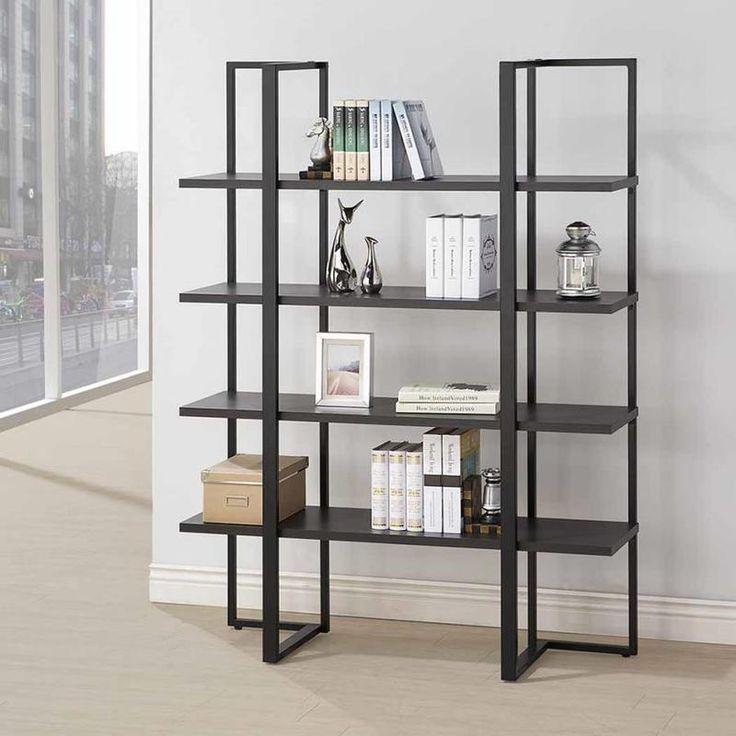 Coaster Wide Modern Bookcase Las Vegas Furniture Online