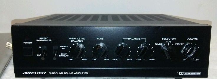 ARCHER Surround Sound Amplifier Tape VCR TV surround sound system  #ARCHER
