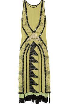 Etro silk-georgette dress, more of the Art Deco theme.