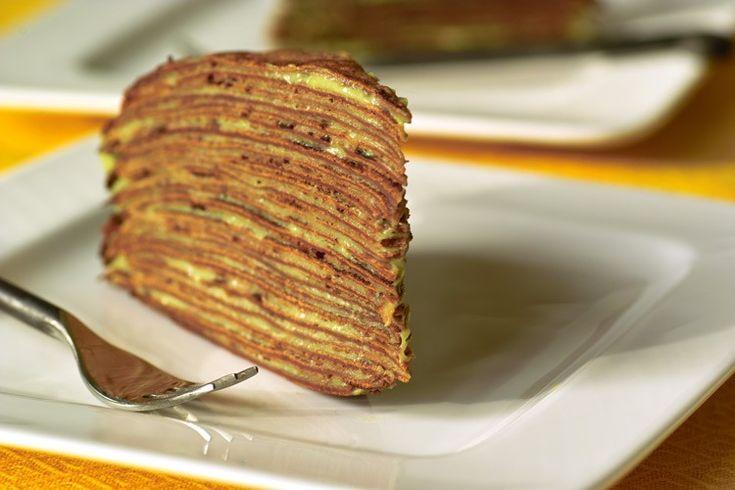 Блинный торт с творожно-сметтанным кремом