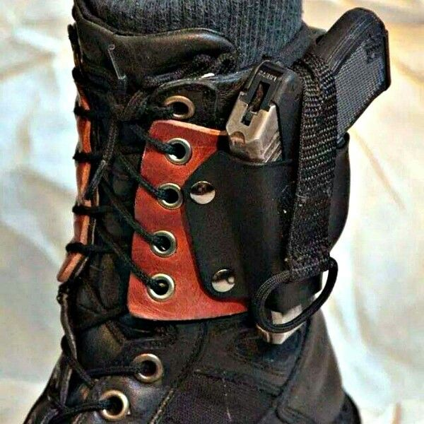 lace up boot holster guns ammo and knives