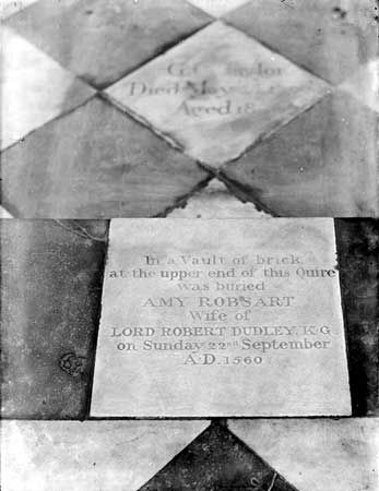 The tomb of Amy Dudley, at St. Mary the Virgin Church in Oxford.