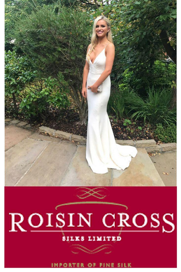 White treble silk  crepe dress