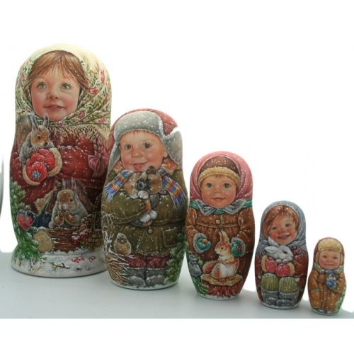 Nesting Doll 5 Pieces Set