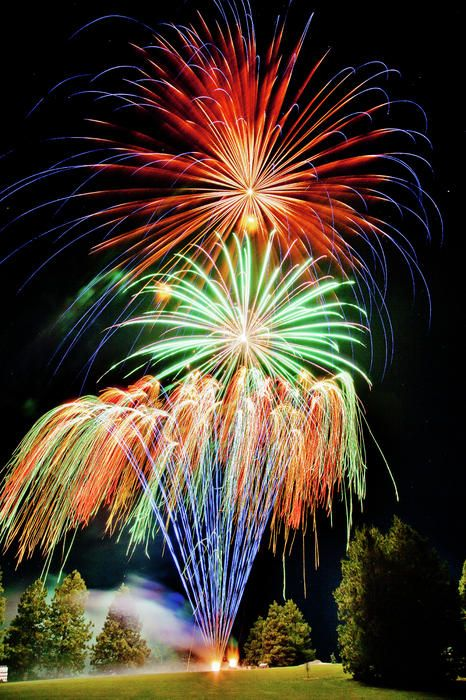 Audiovisuals and special effects: Fireworks at the end of the event of course!
