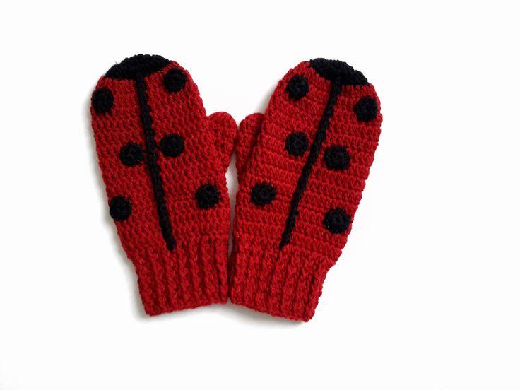 20 - Patron tutoriel de moufles coccinelle enfants au crochet tailles 18 mois à 6 ans : Tutoriels de fabrication par ladeuxl-s-boutique