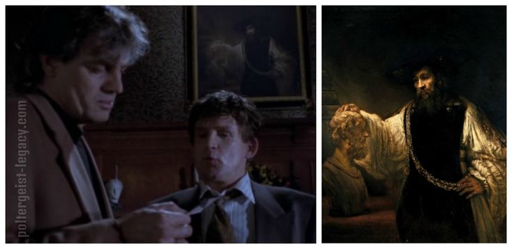 """Poltergeist the Legacy - картины СФ Дома Наследия - """"Аристотеля с бюстом Гомера"""" (Aristoteles peinzend bij een borstbeeld van Homerus) Рембрандта (Rembrandt)"""
