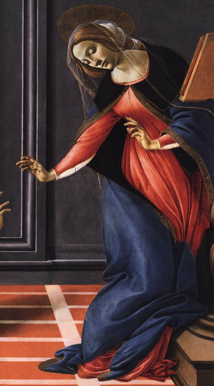 """Detail from Botticelli's """"Cestello Annunciation"""", 1489-90."""