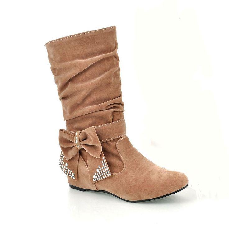 Fashion Rider Lady Bows Boots - YELLOW 38