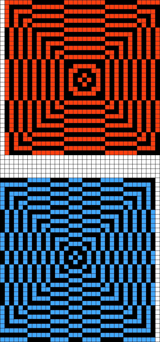 Granny square illusion afghan