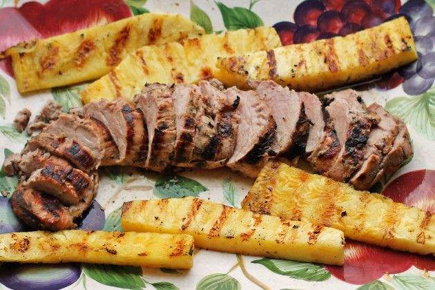 Grilled Pork Loin and Pineapple | Food Fanatic