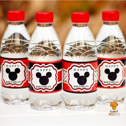 Plastic bottles for children's holiday with a picture of Mickey Mouse. Want to buy? Click on the photo!   Пластиковые бутылки для детского праздника с картинкой Микки Мауса. Хотите купить? Нажмите на фото!