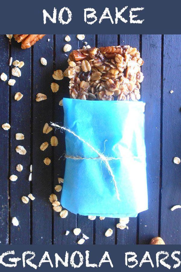 Simple No Bake Vegan Granola Bars made with healthy ingredients | #vegan #protein #healthy #healthysnacks homemade granola bars, granola bars, healthy breakfast, healthy snacks