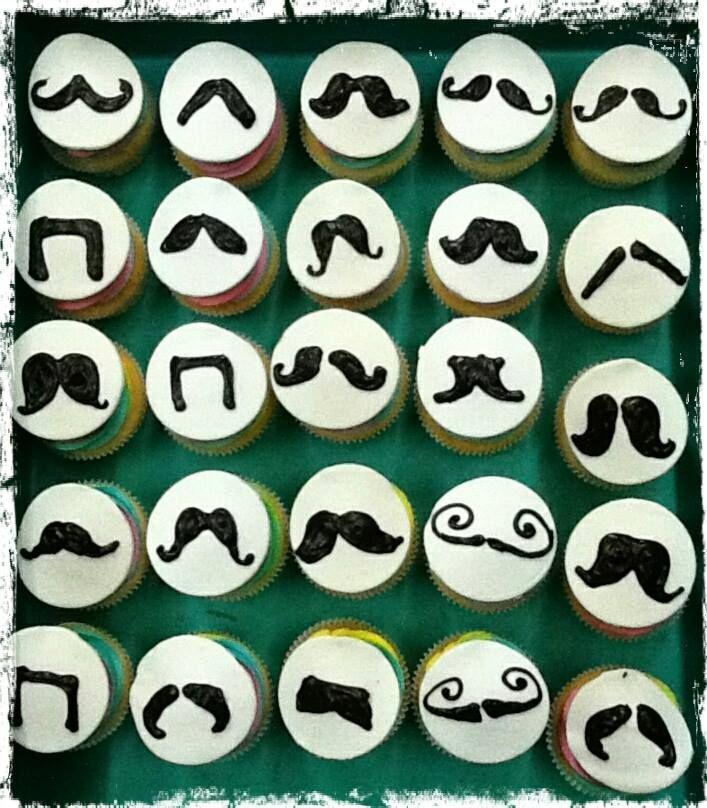 Lip-Moochingly yummy cupcakes! #Movember #PeekAMoo #MovemberMadness #Vanilla #Customization #SweetTreats #Ambrosia
