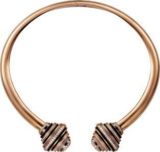 Paris Nouvelle Vague náhrdelník růžové zlato, hematit, ametysty, křemen, růžové opály, diamanty