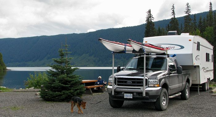 Homemade Front Extensions With Canoe Racks Camper Rv