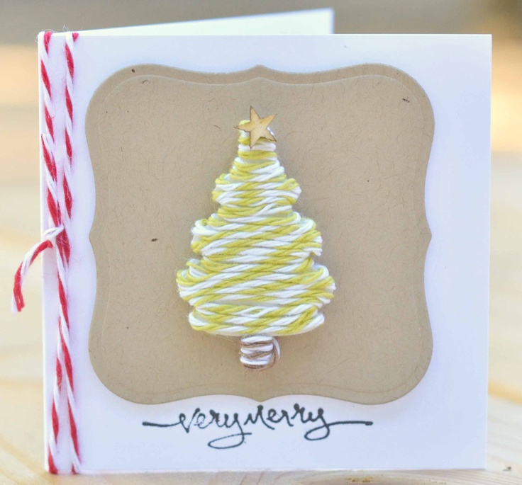Cards With Twine Cards Pinterest Christmas Car