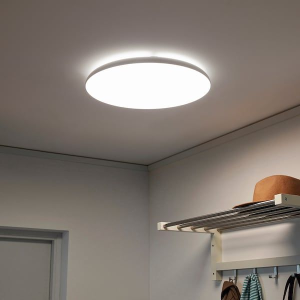 Https Www Ikea Com No No P Nymane Led Plafond Hvit 60336274 Ikea In 2020 Ceiling Lamp White Led Ceiling Lamp Ceiling Lamp