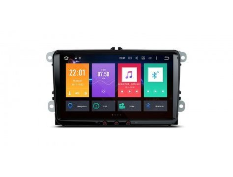 "PE96MTVPL - 9"" HD Octa-Core Android 6.0 DDR3 4GB RAM + 32GB ROM Digital Multi Touch Screen Car Stereo Custom Fit for VW 
