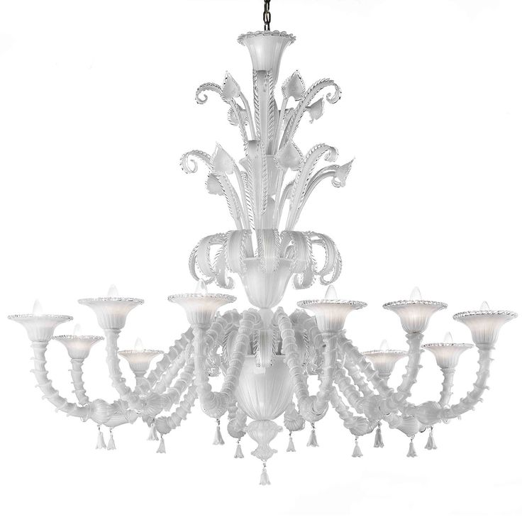 17 Best images about White Murano chandeliers – White Murano Chandelier
